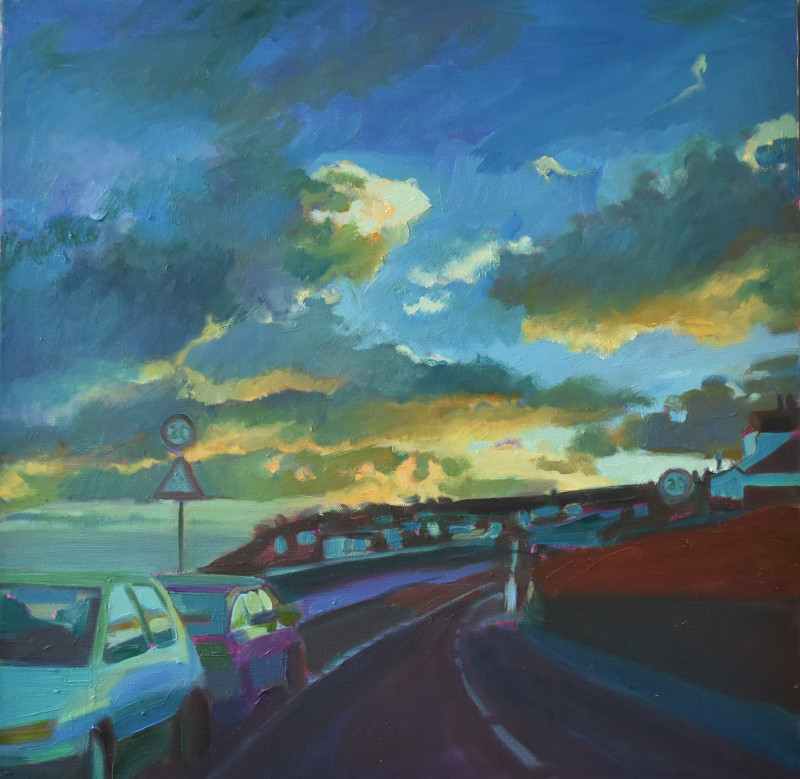 Road to Mousehole - Oil Painting